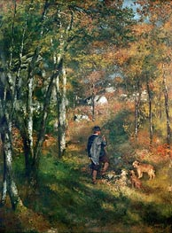 The Painter Lecoeur in the Woods of Fontainebleau | Renoir | Gemälde Reproduktion