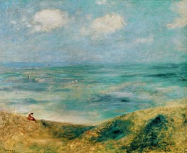 Seascape. Woman at the Seaside, c.1879/80 by Renoir | Painting Reproduction