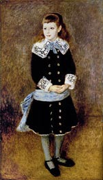 Girl with Blue Sash, 1879 by Renoir | Painting Reproduction