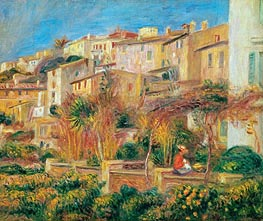 Terrace at Cagnes, 1905 von Renoir | Gemälde-Reproduktion