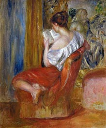 Woman Reading, c.1900 von Renoir | Gemälde-Reproduktion