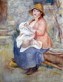 Madame Renoir and Son Pierre (Maternity), 1885 von Renoir | Gemälde-Reproduktion