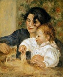 Gabrielle and Jean, c.1900 von Renoir | Gemälde-Reproduktion