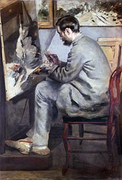 Frederic Bazille, 1867 von Renoir | Gemälde-Reproduktion