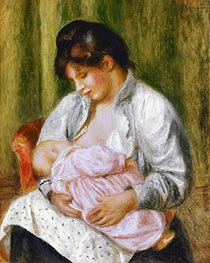 A Woman Nursing a Child, c.1894 von Renoir | Gemälde-Reproduktion