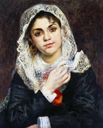 Lise in a White Shawl, 1872 von Renoir | Gemälde-Reproduktion