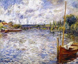 The Seine at Chatou, 1874 von Renoir | Gemälde-Reproduktion
