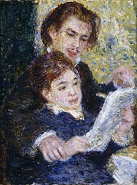 In the Studio (Georges Riviere and Marguerite Legrand), c.1876/77 von Renoir | Gemälde-Reproduktion