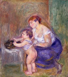Mother and Child, c.1895 von Renoir | Gemälde-Reproduktion