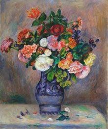 Flowers in a Vase, c.1880 von Renoir | Gemälde-Reproduktion