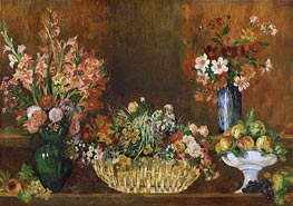 Still Life with Flowers and Fruit, c.1890 von Renoir | Gemälde-Reproduktion