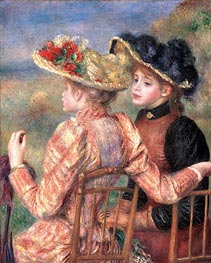 Two Girls, c.1892 von Renoir | Gemälde-Reproduktion