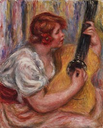 Woman with a Guitar, c.1918 von Renoir | Gemälde-Reproduktion