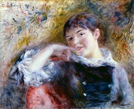 The Dreamer, 1879 von Renoir | Gemälde-Reproduktion