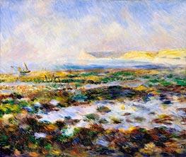 Guernsey Seascape, 1883 von Renoir | Gemälde-Reproduktion
