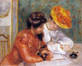 The Letter, c.1895/00 von Renoir | Gemälde-Reproduktion