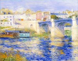Argenteuil Bridge (Bridge at Chatou), c.1875 von Renoir | Gemälde-Reproduktion