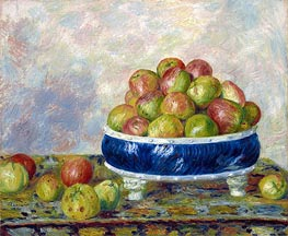 Apples in a Dish, 1883 von Renoir | Gemälde-Reproduktion