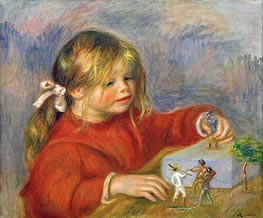 Claude Renoir at Play, 1905 von Renoir | Gemälde-Reproduktion