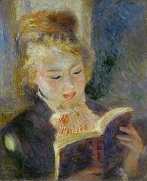 Girl Reading, 1874 von Renoir | Gemälde-Reproduktion