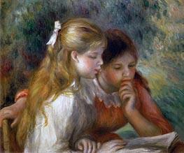 The Reading, c.1890/95 von Renoir | Gemälde-Reproduktion