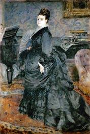 Portrait of a Lady (Mme Georges Hartmann), 1874 von Renoir | Gemälde-Reproduktion