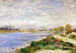 The Seine River near Argenteuil, 1873 von Renoir | Gemälde-Reproduktion