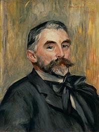 Portrait of Stephane Mallarme, 1892 von Renoir | Gemälde-Reproduktion
