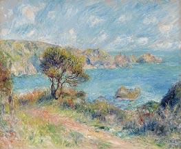 View at Guernsey, 1883 von Renoir | Gemälde-Reproduktion