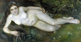A Nymph by a Stream, c.1869/70 von Renoir | Gemälde-Reproduktion