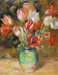 Tulips in a Vase, undated von Renoir | Gemälde-Reproduktion