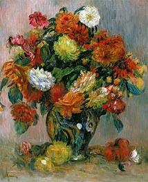Vase of Flowers, c.1884 von Renoir | Gemälde-Reproduktion