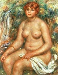 Seated Bather, 1916 von Renoir | Gemälde-Reproduktion