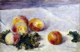 Still Life with Peaches on a Table, c.1890/18 von Renoir | Gemälde-Reproduktion