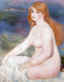 Bather (Blonde Bather II), 1882 von Renoir | Gemälde-Reproduktion