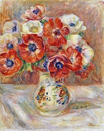 Still Life with Anemones, undated von Renoir | Gemälde-Reproduktion