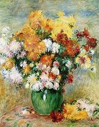 Bouquet of Chrysanthemums, c.1884 von Renoir | Gemälde-Reproduktion