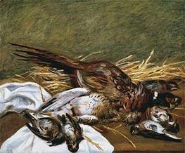 Pheasant, Sparrow and Grouse, 1902 von Renoir | Gemälde-Reproduktion