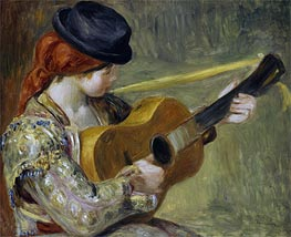Girl with a Guitar | Renoir | Painting Reproduction