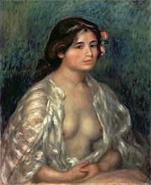 Woman Semi-Nude, undated von Renoir | Gemälde-Reproduktion