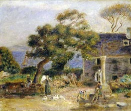 View of Treboul, c.1895 by Renoir | Painting Reproduction
