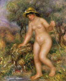 The Source (Gabrielle Nude), undated von Renoir | Gemälde-Reproduktion
