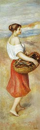 Girl with a Basket of Fish, c.1889 by Renoir | Painting Reproduction