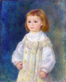 Lucie Berard (Child in White), 1883 by Renoir | Painting Reproduction