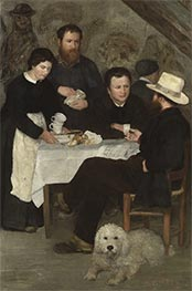 Mutter Anthonys Taverne, 1866 von Renoir | Gemälde-Reproduktion