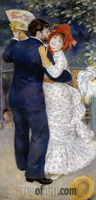 Dance in the Country (Dance at Chatou), 1883 | Renoir| Painting Reproduction