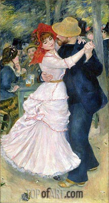 Dance at Bougival, 1883 | Renoir| Gemälde Reproduktion