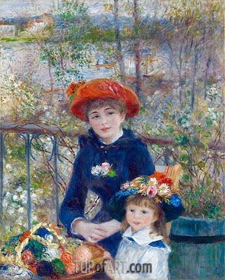 Two Sisters (On the Terrace), 1881 | Renoir| Gemälde Reproduktion