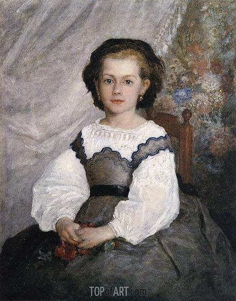 Mademoiselle Romaine Lacaux, 1864 | Renoir| Painting Reproduction