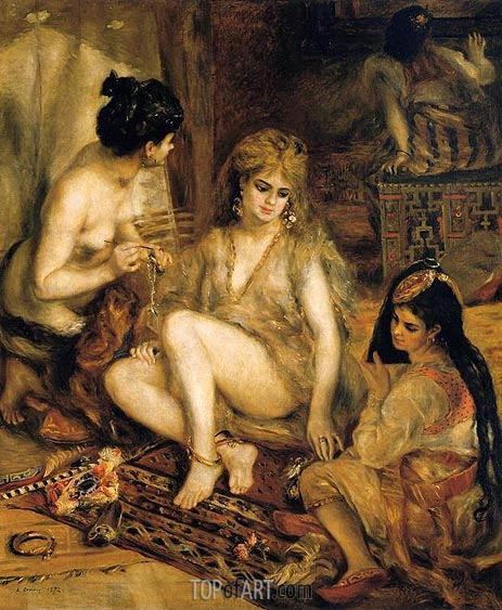 The Harem (Parisian Women Dressed as Algerians), 1872 | Renoir| Painting Reproduction